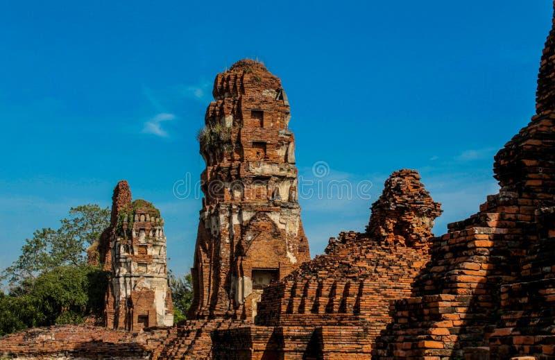 Ayutthaya Dziejowe Parkowe antyczne ruiny wat zdjęcia royalty free