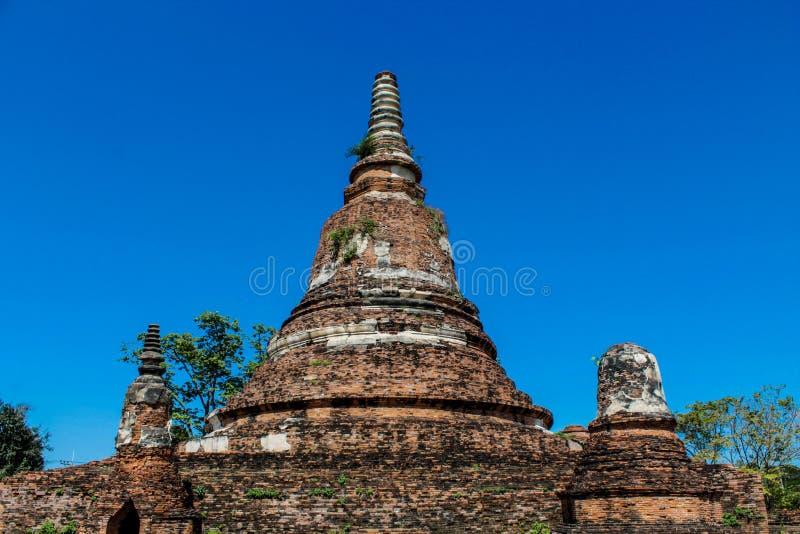 Ayutthaya Dziejowe Parkowe antyczne ruiny wat obraz stock