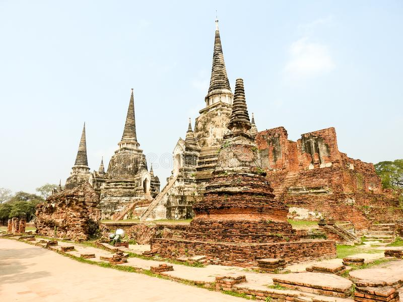 Ayutthaya former capital of the Kingdom of Siam royalty free stock image