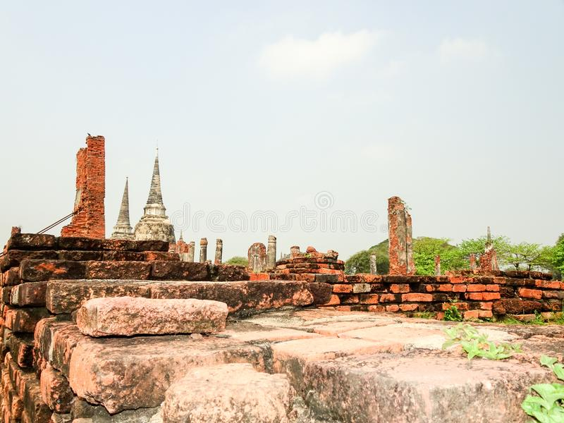 Ayutthaya capital of the Kingdom of Siam royalty free stock photo