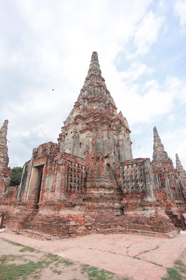Ayutthaya historical park. The Ayutthaya Historical Park covers the ruins of the old city of Ayutthaya, Thailand. The city of Ayutthaya was founded by King stock photography
