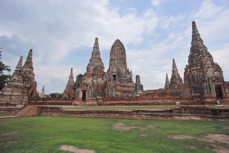 Ayutthaya historical park. The Ayutthaya Historical Park covers the ruins of the old city of Ayutthaya, Thailand. The city of Ayutthaya was founded by King royalty free stock photos