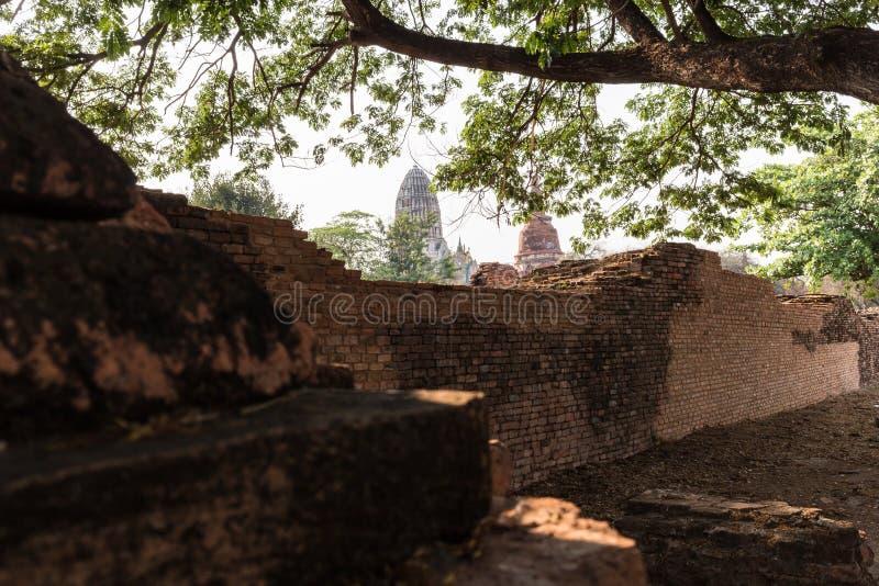 Ayutthaya historical park stock photo