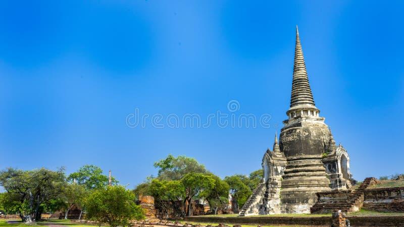 Ayutthaya, historische Stadt von Ayutthaya stockbild