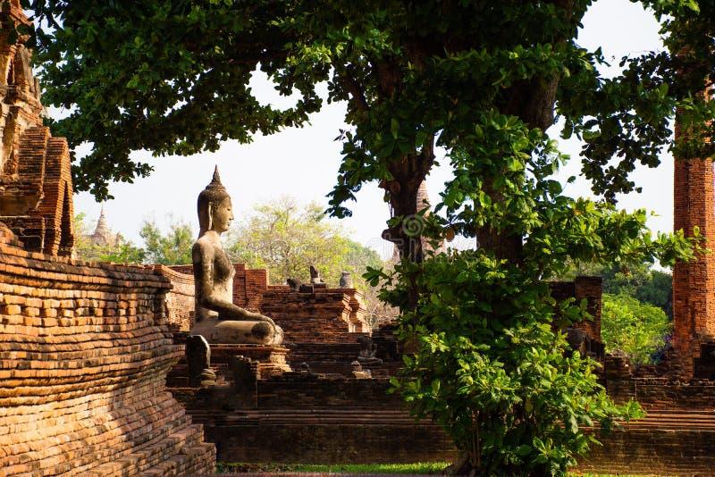 Ayutthaya, la ville antique de Thailan image libre de droits