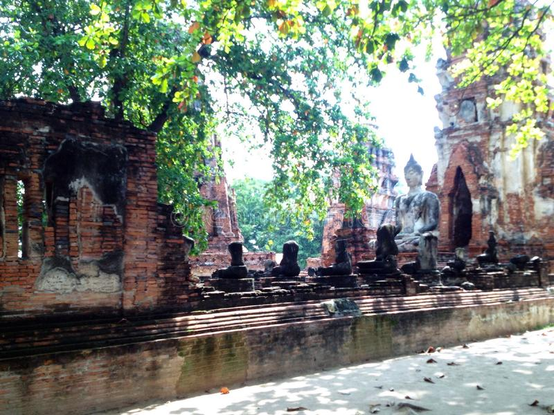 Ayutthaya 1, o patrimônio mundial fotos de stock