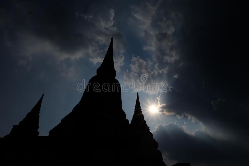Ayutthaya-Pagode lizenzfreies stockfoto