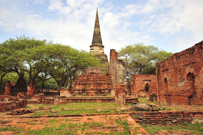 ayutthaya phra sanphet sri泰国 免版税库存图片