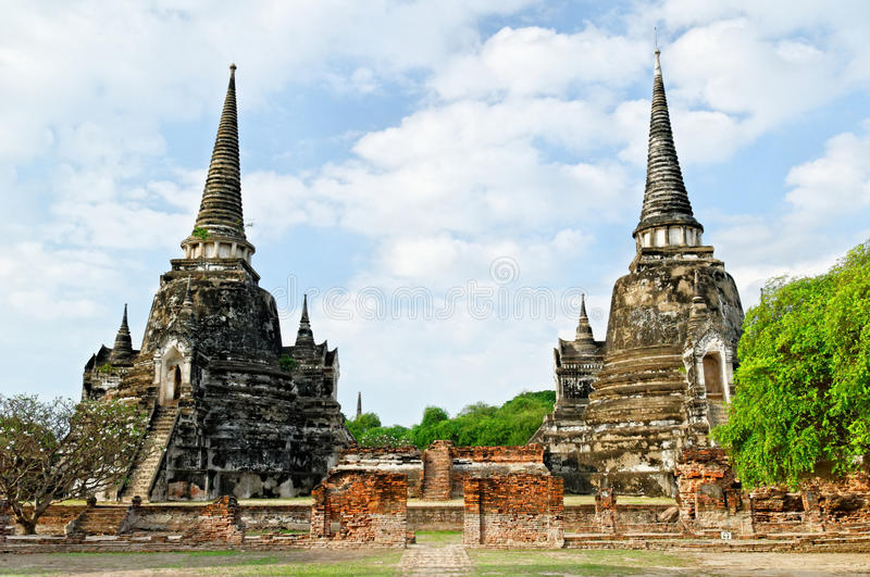 Ayutthaya ruins royalty free stock photo