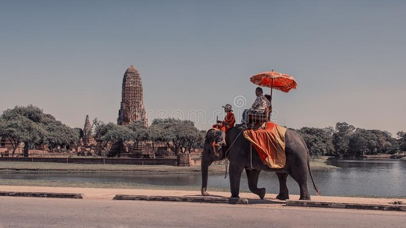 Ayutthaya stad i Thailand arkivfoton
