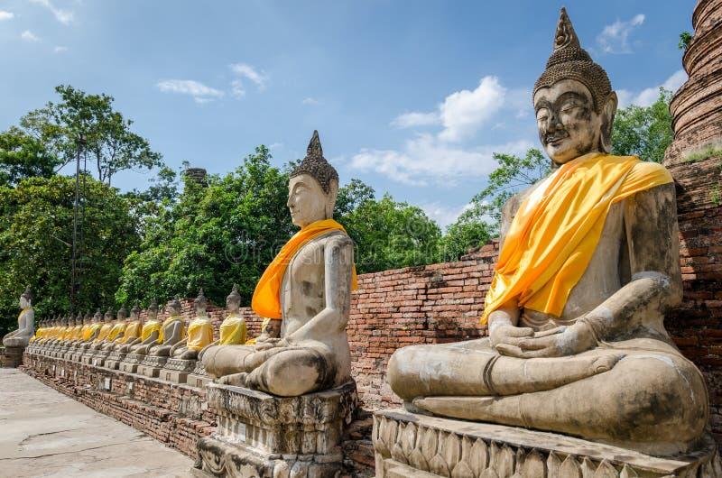 Ayutthaya Tailândia, estátuas da Buda fotografia de stock