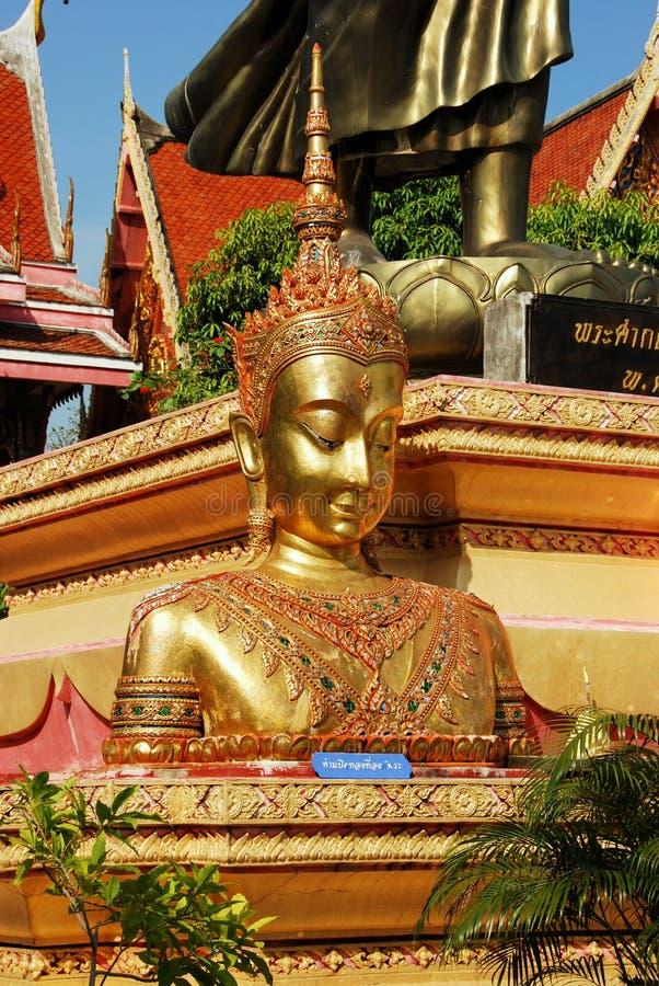 Ayutthaya, Tailândia: Wat Prayathikaran Buddha fotografia de stock