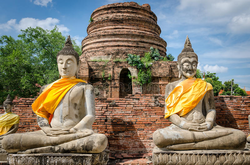 Ayutthaya Tailandia, statue di Buddha immagini stock
