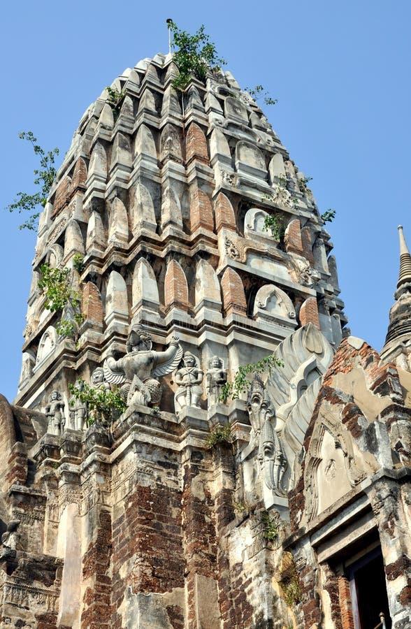 Ayutthaya, Tailandia: Wat Ratchaburana fotografie stock