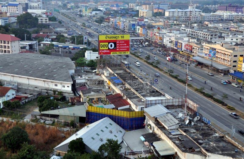 Ayutthaya, Thailand: Ansicht der Stadt lizenzfreie stockfotos