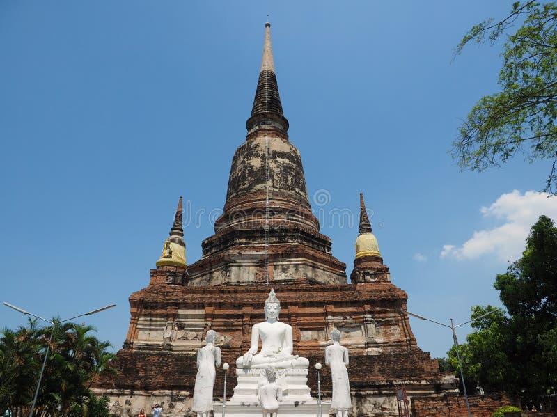 Buddha image at iconic Thai temple royalty free stock photography