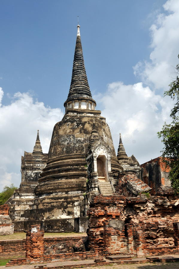 Ayutthaya, Thailand: Chedis bei Wat Phra Si Sanphet stockfoto