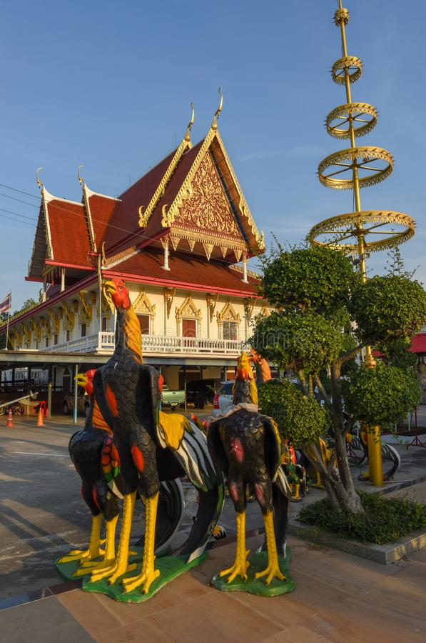 Wat Phanan Choeng temple in Ayutthaya, Thailand. Ayutthaya, Thailand - 4 January 2018: Wat Phanan Choeng temple in Ayutthaya, Thailand stock photos