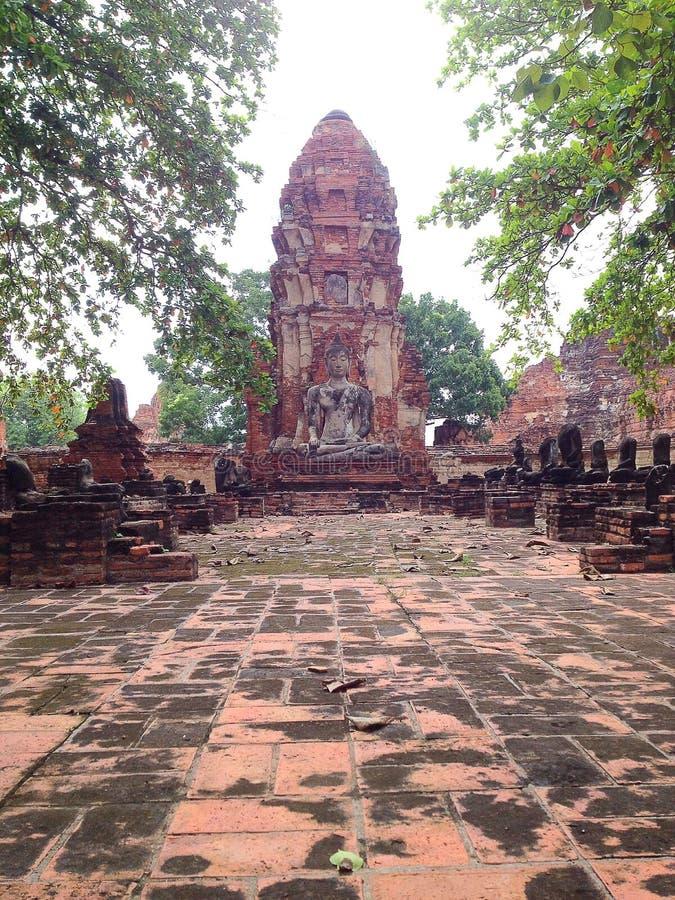 Ayutthaya 3, världsarvet royaltyfria foton