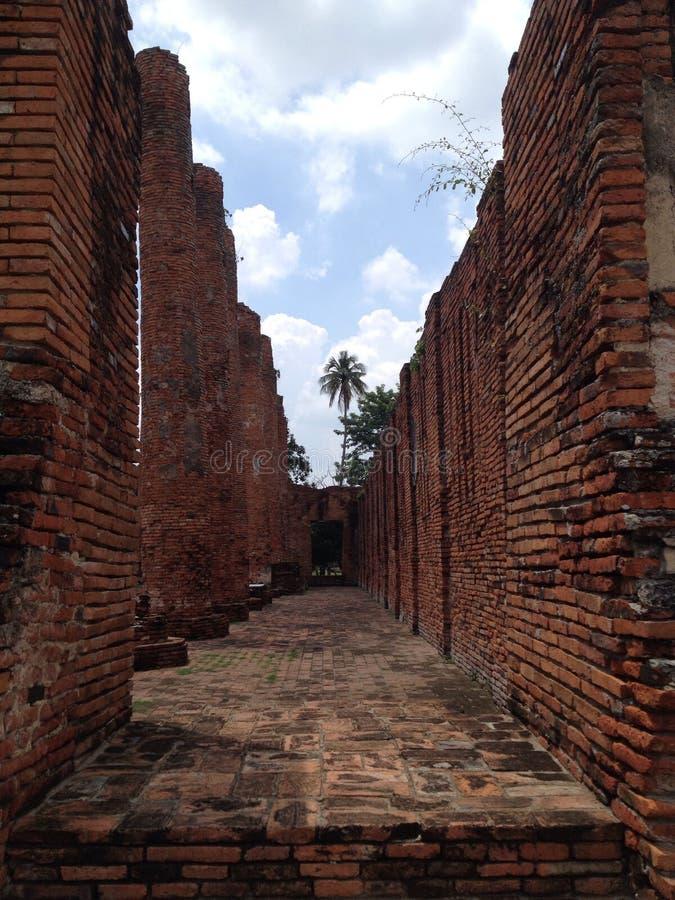 Ayutthaya 1, världsarvet royaltyfri bild