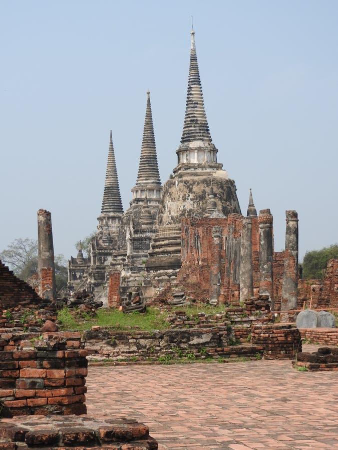 Ayutthaya vroeger kapitaal van het Koninkrijk van Siam stock foto