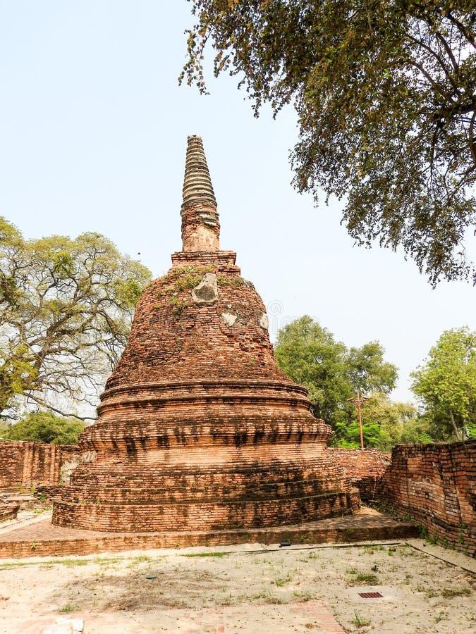 Ayutthaya vroeger kapitaal van het Koninkrijk van Siam royalty-vrije stock foto