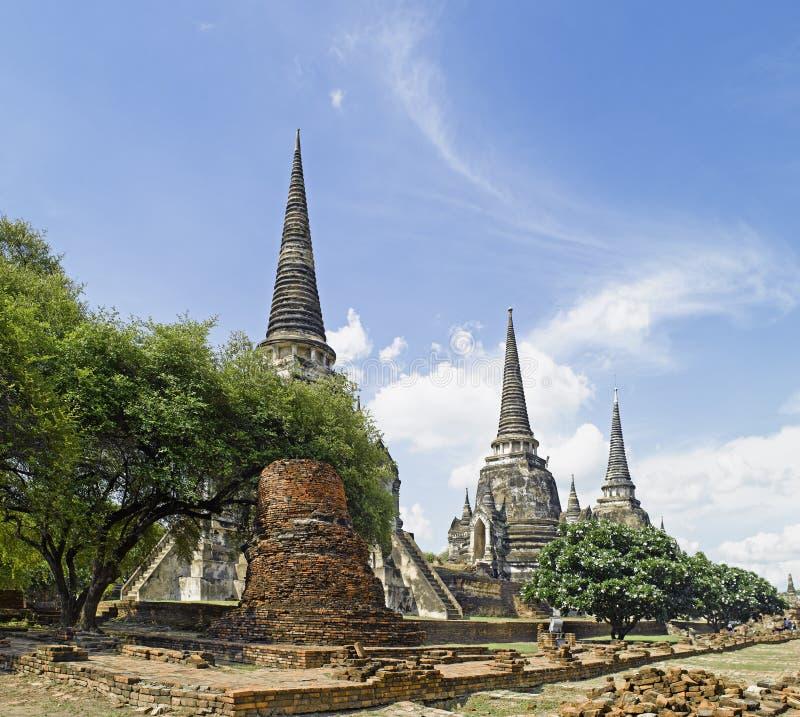 Ayutthaya : Wat Phra Sri Sanphet temple royalty free stock photo