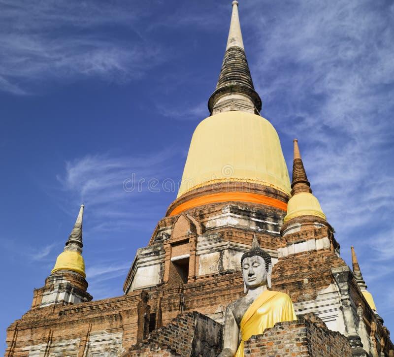 Ayutthaya Wat Yai Chai Mongkon photos libres de droits