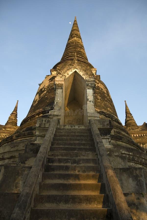ayutthayaen fördärvar tempelet thailand royaltyfri fotografi