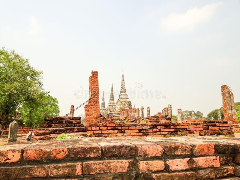 Ayutthayakapitaal van het Koninkrijk van Siam stock afbeelding