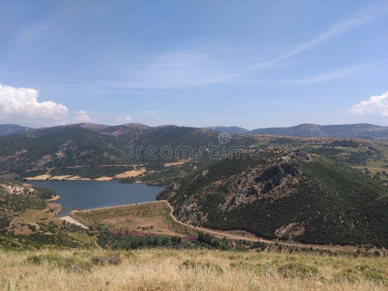 Ayvacik,爱琴海区域 kosedere村庄 土耳其,夏天2019年 免版税库存图片