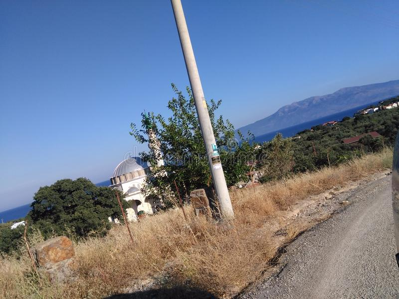 Ayvacik, area di mar Egeo dell'isola di midilli La Turchia, estate 2019 fotografia stock libera da diritti