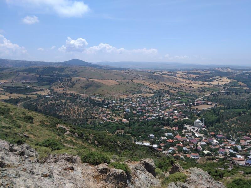 Ayvacik, morze egejskie teren kosedere wioska Turcja, lato 2019 obrazy stock