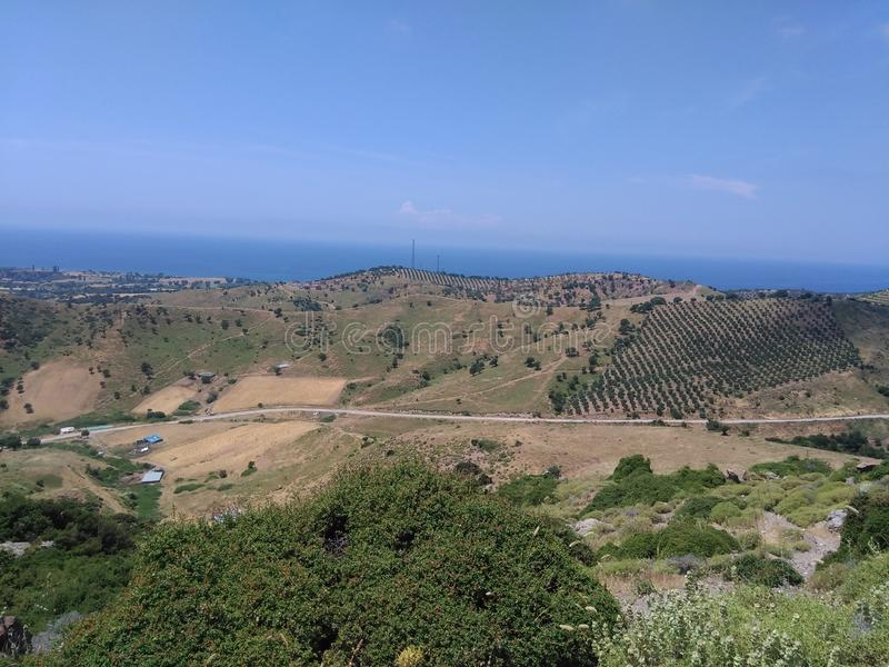 Ayvacik, morze egejskie teren kosedere wioska Turcja, lato 2019 obraz royalty free