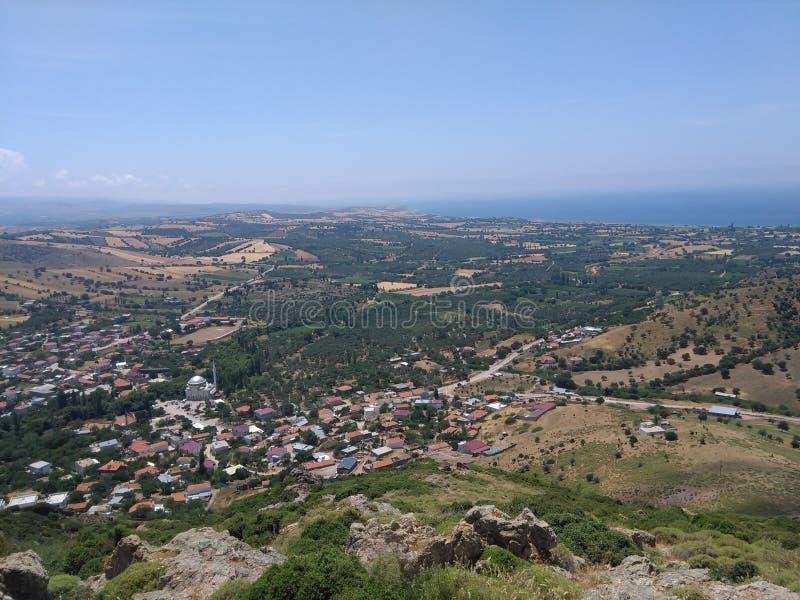 Ayvacik område för aegean hav kosedereby Turkiet sommar 2019 fotografering för bildbyråer