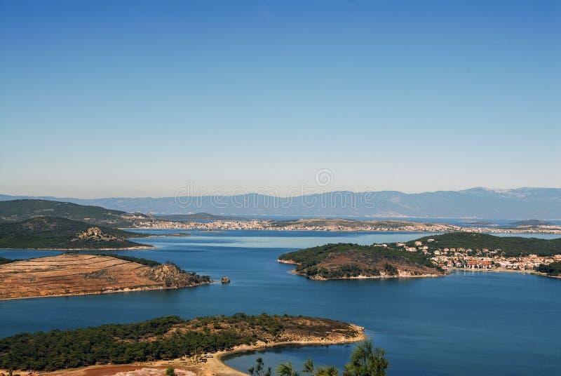 Ayvalik miasteczko na morzu egejskim zdjęcia stock