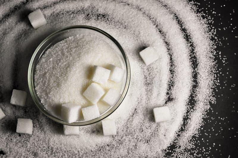 Azúcar blanco fotos de archivo libres de regalías