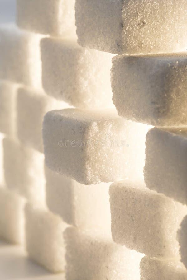Azúcar blanco puro fotos de archivo