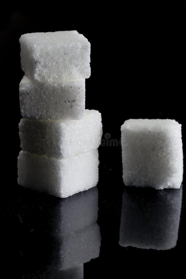 Azúcar blanco puro imágenes de archivo libres de regalías