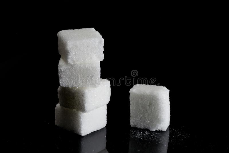 Azúcar blanco puro fotografía de archivo libre de regalías