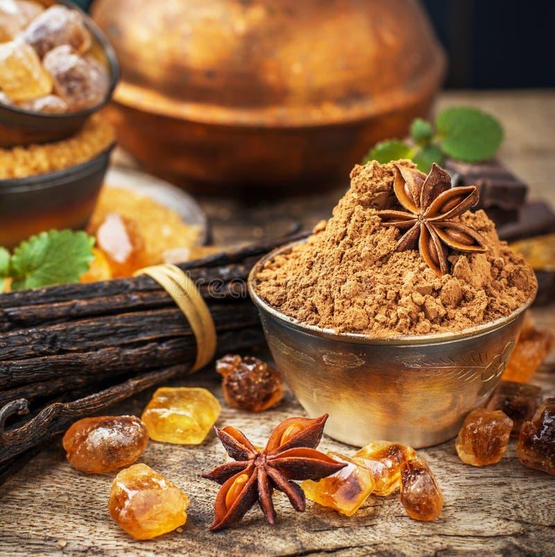 Azúcar de Brown fotos de archivo