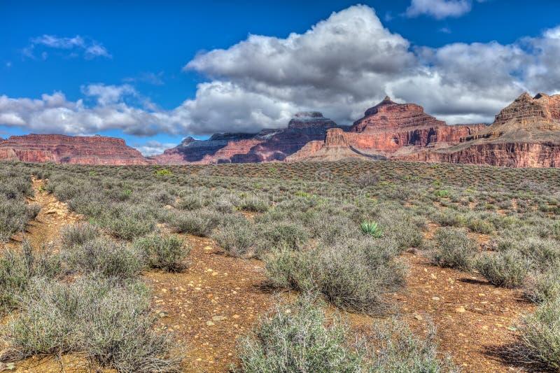AZ-грандиозный след оправы-Tonto национальный парк каньона западный стоковое изображение