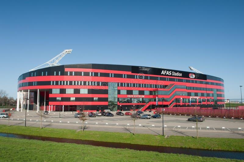 AZ Alkmaar voetbalstadion royalty-vrije stock foto's