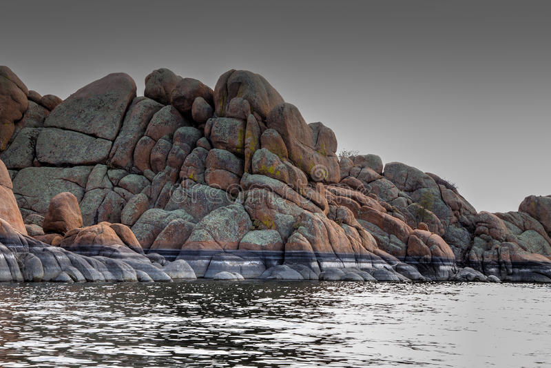 AZ-Prescott-granit Dells-Watson sjö royaltyfri foto
