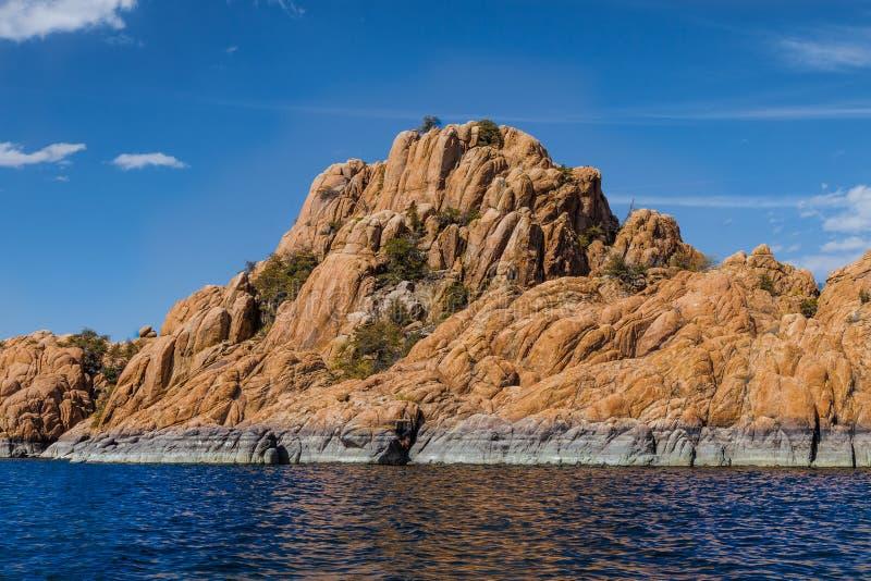 AZ-Prescott-Granite Dells-Watson Lake. AZ-Granite Dells-Prescott-Watson Lake. This image was taken while sailing on Watson Lake stock photo