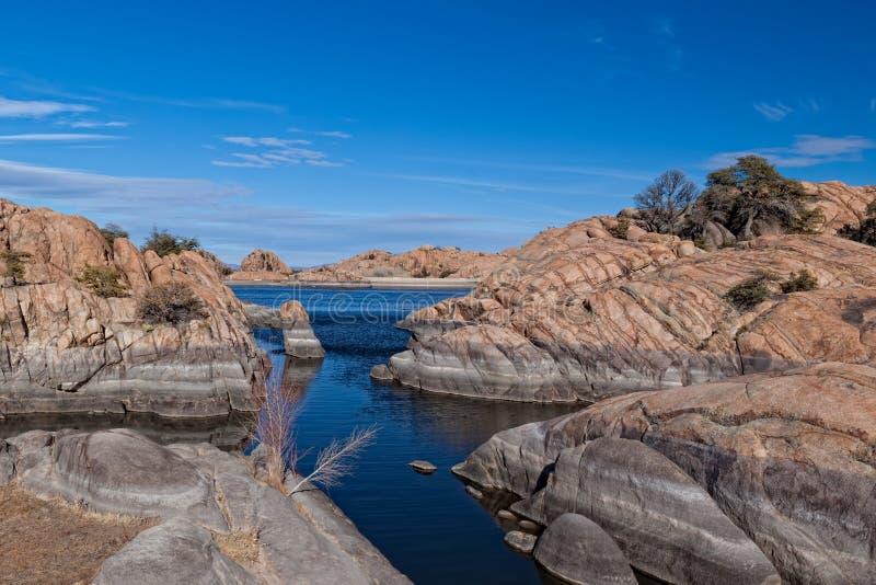 AZ-Prescott- Granite Dells-Willow Lake. Willow Lake in the Granite Dells area of Prescott, AZ, is a hiker, climber, and birder paradise stock photos