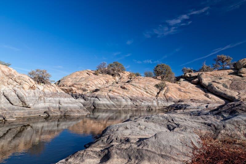 AZ-Prescott- Granite Dells-Willow Lake. Willow Lake in the Granite Dells area of Prescott, AZ, is a hiker, climber, and birder paradise stock images