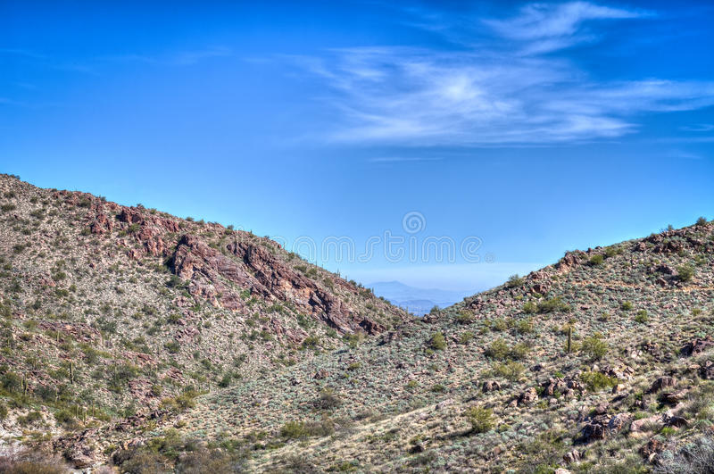 AZ-Waddell-White Tank Mountain Regional Park stock images