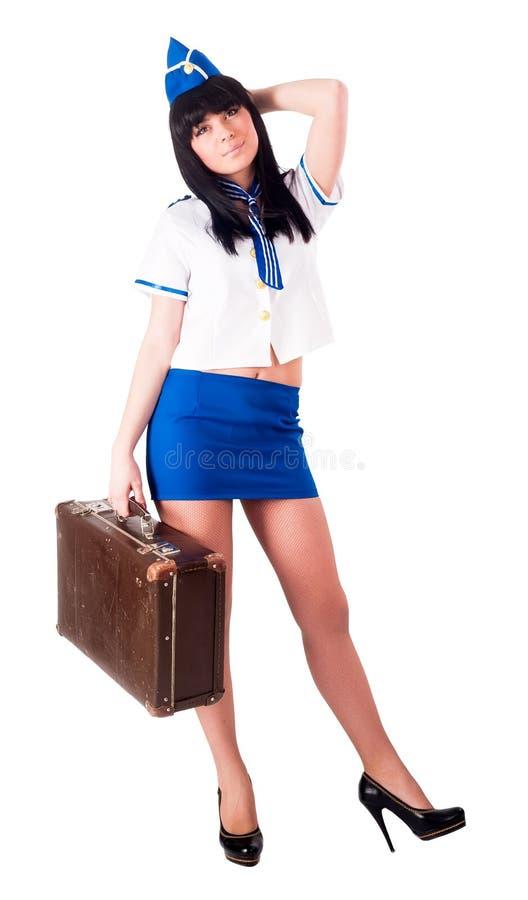Presentadora de aire hermosa joven fotos de archivo