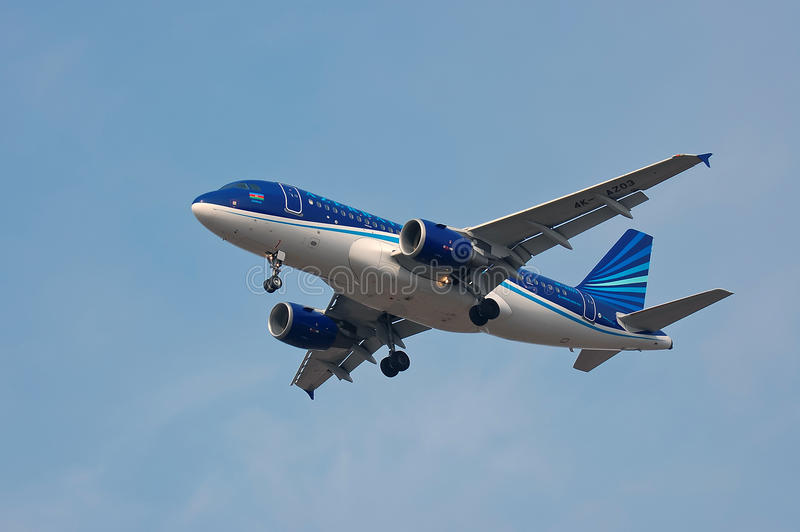 AZAL Azerbaijan Airlines Airbus A319 fotos de archivo